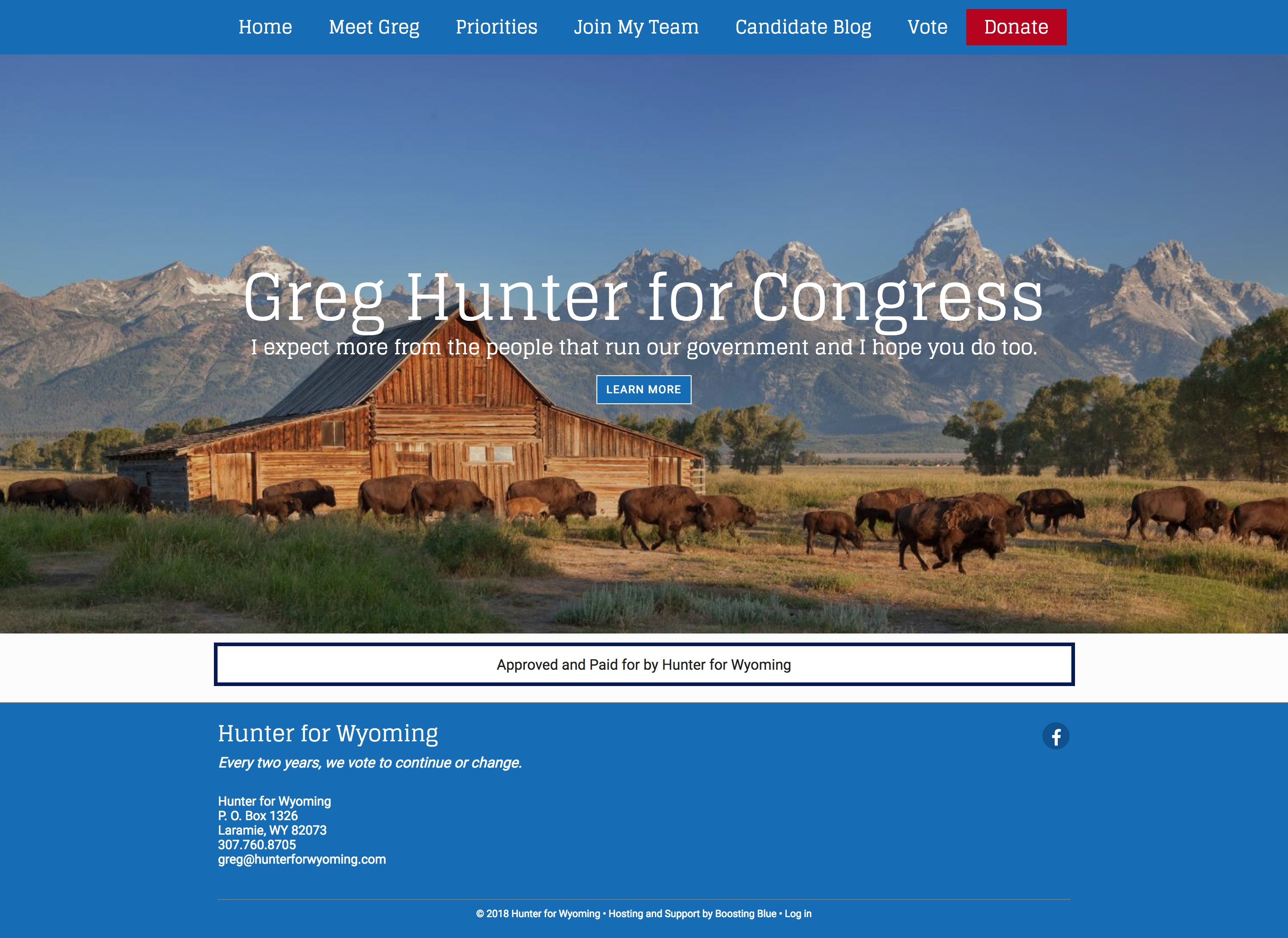 Hunter for Wyoming